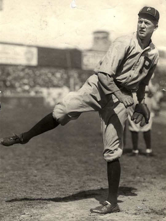 Grover Cleveland Alexander would pitch for the Philadelphia Phillies for eight years of his 20-year pitching career. (By Photographer Charles Conlon/National Baseball Hall of Fame and Museum)