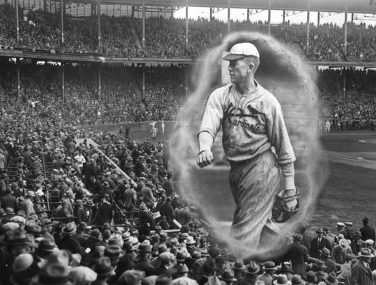 Grover Cleveland Alexander of the Cardinals thrilled fans during the 1926 World Series with complete game victories in Games 2 and 6 and then a save in Game 7. (National Baseball Hall of Fame and Museum)