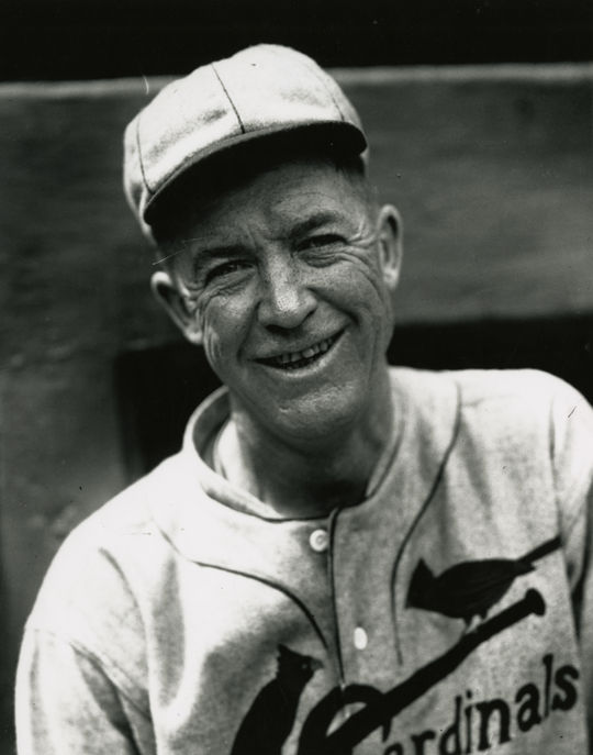 Grover Cleveland Alexander pitched four seasons for the Cardinals, helping St. Louis win two National League pennants and the 1926 World Series. (Charles M. Conlon/National Baseball Hall of Fame and Museum)