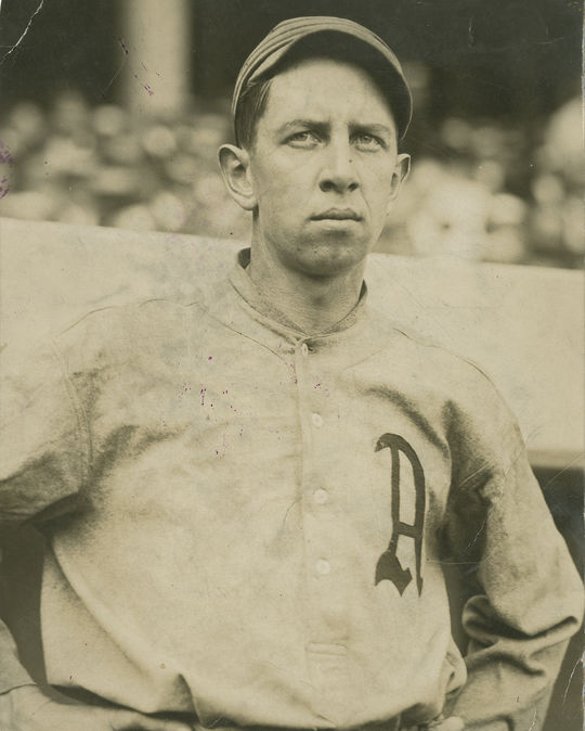 This image of Eddie Collins circa 1915 is one of the images recently donated by Gene Mack's grandson, Dan Margarita, to the Hall of Fame. (National Baseball Hall of Fame and Museum)
