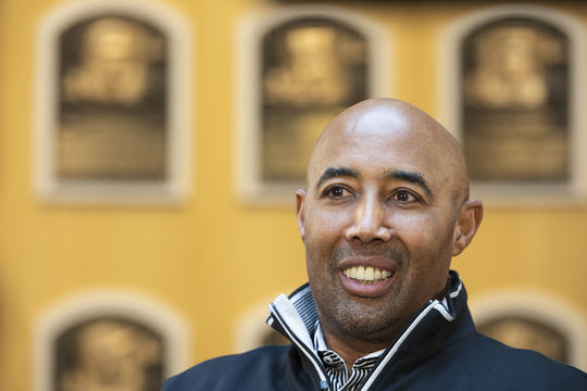 Harold Baines visited the Hall of Fame on Jan. 29 in preparation for his induction as a member of the Class of 2019. (Milo Stewart Jr./National Baseball Hall of Fame and Museum)