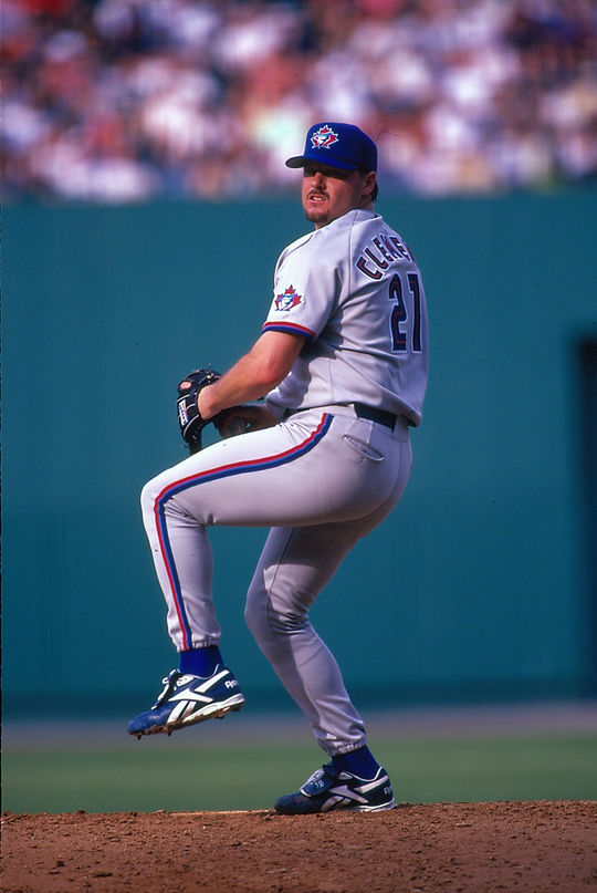 Roger Clemens (pictured above) won a record seven Cy Young Awards (1986-87, 1991, 1997-98, 2001, 2004). (National Baseball Hall of Fame and Museum)