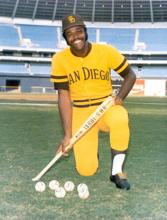 Fred Norman's San Diego Padres of 1971-73 had trouble scoring runs, but Nate Colbert was a consistent force in the middle of their lineup. Colbert tied a record with five home runs in one doubleheader on Aug. 1, 1972. (National Baseball Hall of Fame and Museum)