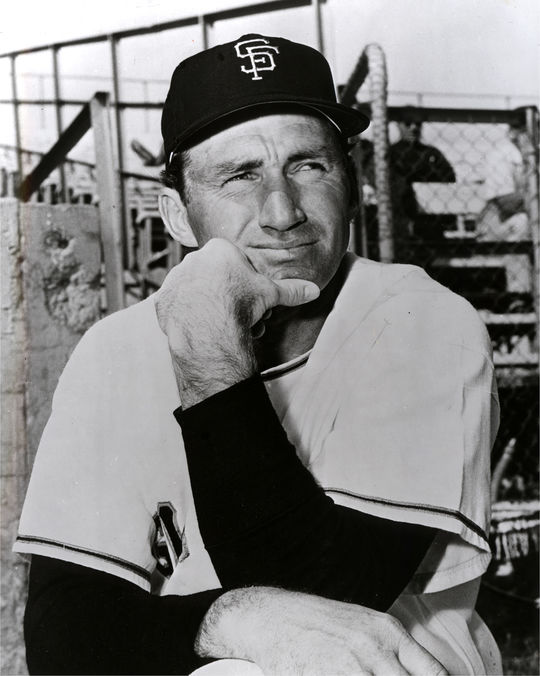 Herman Franks served on San Francisco Giants manager Alvin Dark's staff in 1964, and quickly replaced Dark (pictured above) as manager. (National Baseball Hall of Fame and Museum)