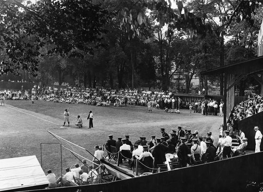 Doubleday Field in Cooperstown, circa 1939. (National Baseball Hall of Fame and Museum)