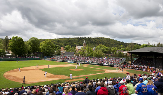 Historic Doubleday Field provided the perfect setting for the 2014 Hall of Fame Classic during Memorial Day Weekend in Cooperstown. (Jean Fruth/National Baseball Hall of Fame)