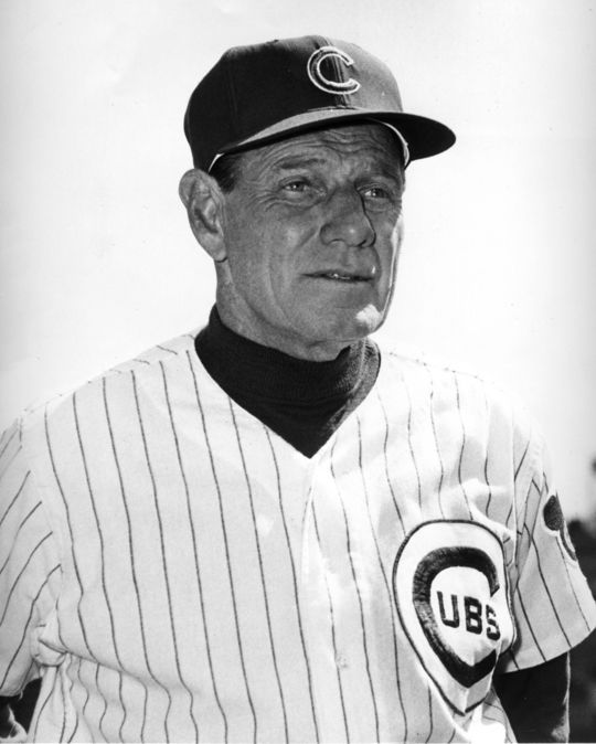 After Chicago Cubs pitching coach Joe Becker suffered a heart attack, manager Leo Durocher (pictured above) contacted Herman Franks about the possibility of stepping in as the team's interim pitching coach. (National Baseball Hall of Fame and Museum)