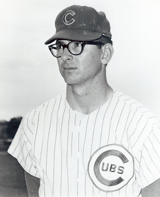 In the midst of the 1968 season, the Cubs acquired Phil Regan from the Dodgers for Ted Savage and Jim Ellis, pictured above. (National Baseball Hall of Fame and Museum)