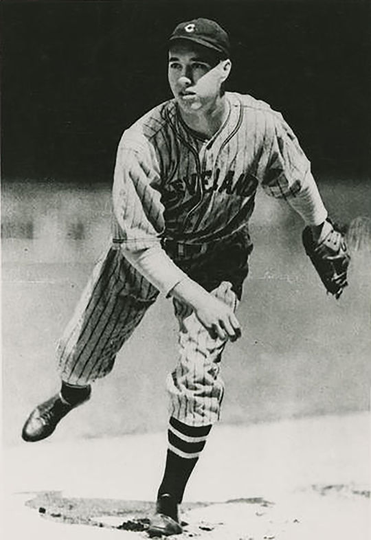 Bob Feller's achievements on the mound were legendary, and he finished his career with 266 wins and 2,581 strikeouts. (National Baseball Hall of Fame and Museum)