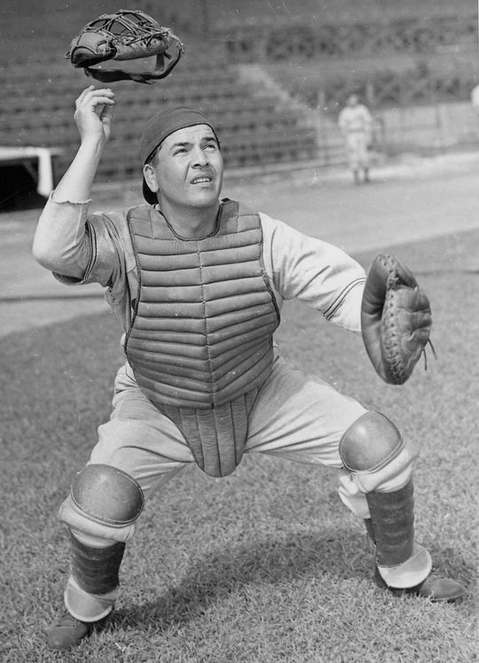 Herman Franks' big league career was interrupted in 1941, with the onset of World War II. He would return to baseball in 1947 as a catcher for the Philadelphia Athletics. (National Baseball Hall of Fame and Museum)