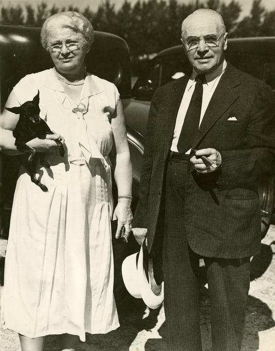 Lou Gehrig's mother Christine, who came to the United States in 1888, regularly attended her son's games, from his days at Columbia University until 1939. She's pictured above with her husband, Heinrich. (National Baseball Hall of Fame and Museum)