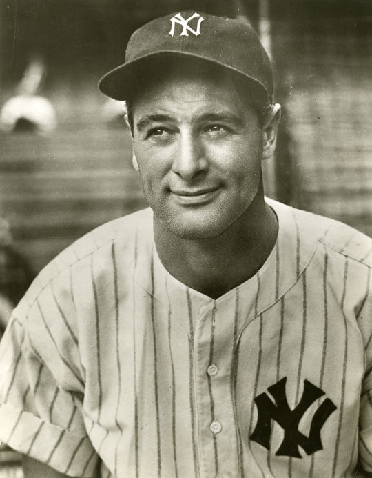 Lou Gehrig was the second baseball figure to have a Liberty ship named after him. Fellow Hall of Famer Christy Mathewson was the first to earn that honor. (National Baseball Hall of Fame and Museum)