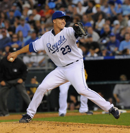 Zack Greinke pitched for the Kansas City Royals from 2004-10, winning the AL Cy Young Award in 2009. A trade on Dec. 19, 2010, sent Greinke to the Brewers and laid the groundwork for the World Series-winning Royals of 2015. (National Baseball Hall of Fame and Museum)