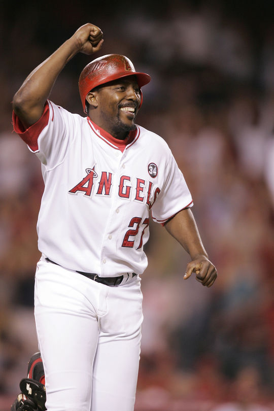 Nine time All-Star Vladimir Guerrero was named the AL MVP in 2004, and finished in the top 10 of his league's MVP voting an additional five times. (National Baseball Hall of Fame and Museum)