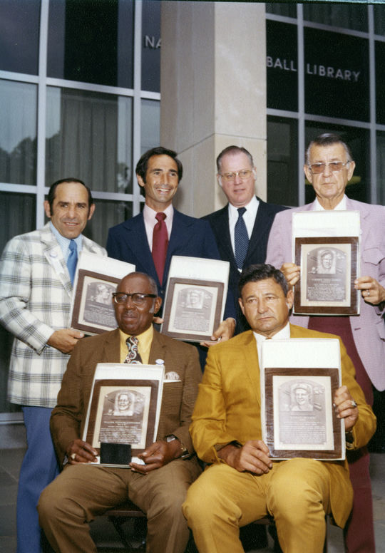 The Hall of Fame Class of 1972, following their Induction Ceremony. (National Baseball Hall of Fame and Museum)