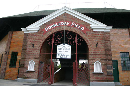 Cooperstown's Doubleday Field hosted two MLB teams for an exhibition known as the Hall of Fame Game each year from 1940-2008. The event was replaced by the Hall of Fame Classic in 2009 (Milo Stewart, Jr. / National Baseball Hall of Fame)