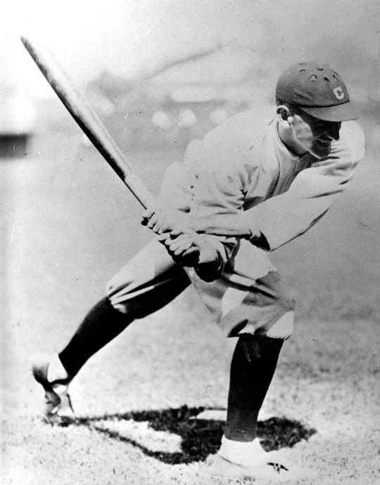 Joe Jackson began his professional baseball career with the Philadelphia Athletics in 1908, and was traded to the Cleveland Naps in 1910. (National Baseball Hall of Fame and Museum)