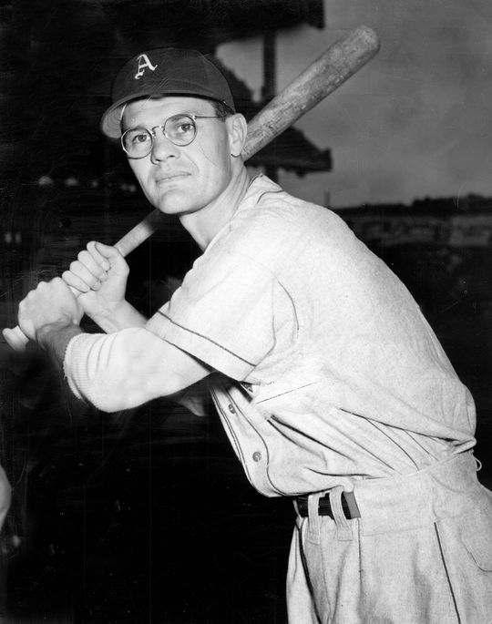 In his first season with the Athletics in 1947, Eddie Joost finished 11th in the American League MVP vote and helped Philadelphia finish with a winning record for the first time since 1933. (National Baseball Hall of Fame and Museum)