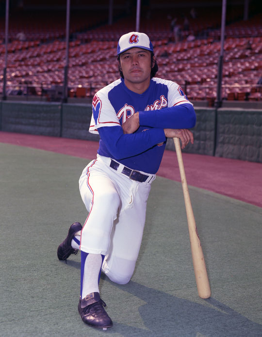 Mike Lum spent the vast majority of his major league career with the Braves, including a second stint when he was traded back to the team in 1978. (Doug McWilliams/National Baseball Hall of Fame and Museum)