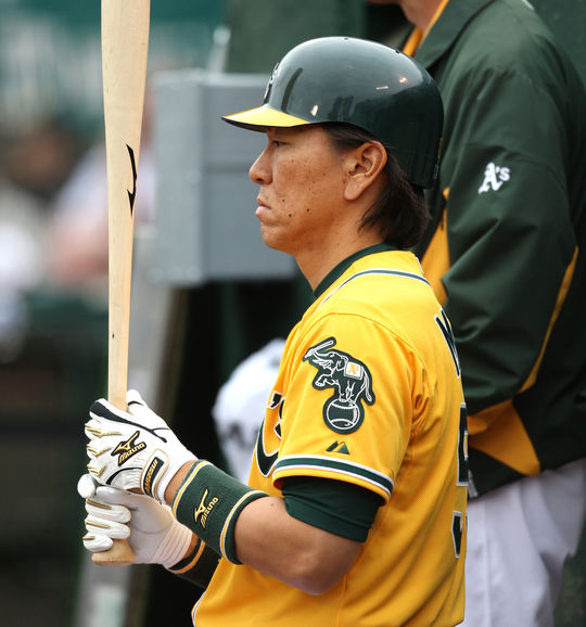 Hideki Matsui spent his last full season in the big leagues with the Athletics in 2011. (National Baseball Hall of Fame and Museum)