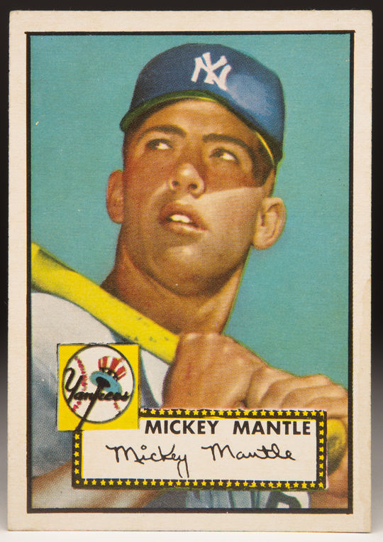 Mickey Mantle's 1952 Topps card was part of a set that set a new standard for the industry. (Topps baseball card photographed by Milo Stewart Jr./National Baseball Hall of Fame and Museum)