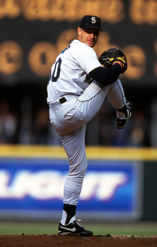 Jamie Moyer is one of only five pitchers to appear in at least 25 seasons and one of only 10 players overall to appear in at least 25 seasons. (Brad Mangin/National Baseball Hall of Fame and Museum)