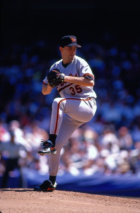 Mike Mussina appeared in 16 Postseason series, posting a 7-8 record with a 3.42 ERA in 23 games. (Michael Ponzini/National Baseball Hall of Fame and Museum)