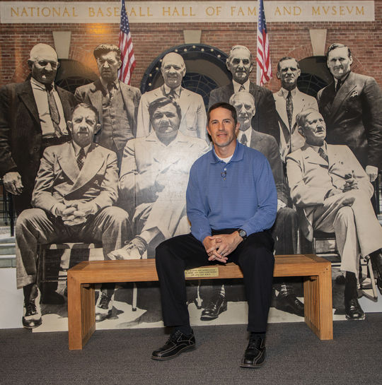 Mike Mussina visited the National Baseball Hall of Fame and Museum for his Orientation Visit in March, 2019. (Milo Stewart Jr./National Baseball Hall of Fame and Museum)