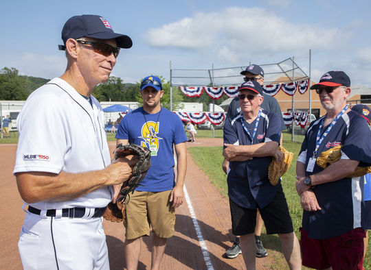 Hall of Famer Alan Trammell chats with participants during PLAY Ball on July 19, 2019. (Milo Stewart Jr./National Baseball Hall of Fame and Museum)
