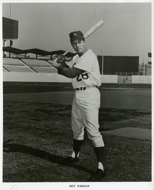 Jim Lefebvre and Wes Parker, pictured here, helped make history as part of an all-switch-hitting infield in 1965. (National Baseball Hall of Fame and Museum)