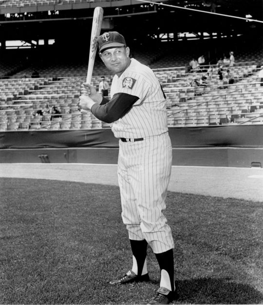 Wally Post played for the Twins in 1963 before ending his big league career following the 1964 season. (National Baseball Hall of Fame and Museum)