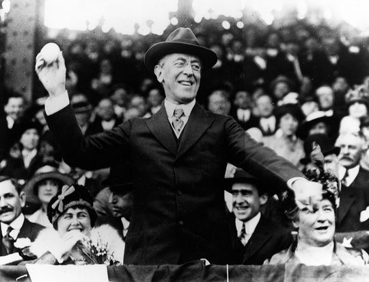 In 1936, future Hall of Famer Clark Griffith ranked Woodrow Wilson (pictured above) and Warren G. Harding as tops among presidential baseball enthusiasts. (National Baseball Hall of Fame and Museum)