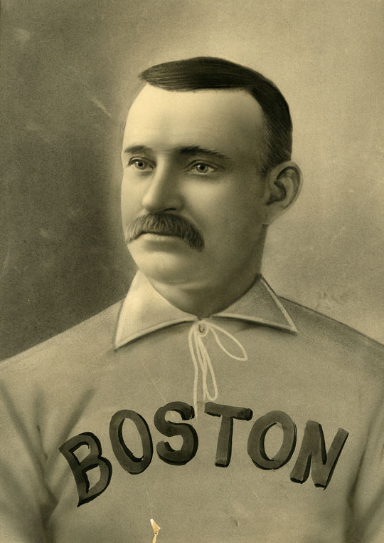 """Hall of Famer Charles """"Old Hoss"""" Radbourn was one of the players featured on the Old Judge promotional poster. (National Baseball Hall of Fame and Museum)"""