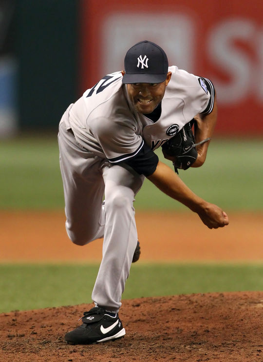 Mariano Rivera was raised in Puerto Caimito, Panama, where he worked for his father as a fisherman after graduating high school. Rivera also pursued baseball, as a member of the Panama Oeste amateur team, and it was there that he caught the eye of Yankees scout Herb Raybourn. (Cliff Welch/National Baseball Hall of Fame and Museum)