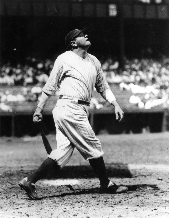 Babe Ruth played in Yankee Stadium from its inception in 1923 until his final year with the Yankees in 1934. (National Baseball Hall of Fame and Museum)
