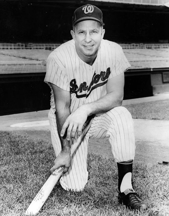 In 1957 Roy Sievers set a new single-season franchise record for the Washington Senators with 42 home runs. (National Baseball Hall of Fame and Museum)