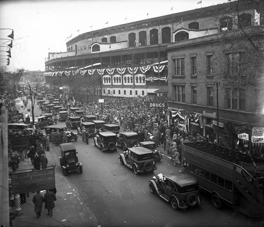 Wrigley Field was a successful site for dozens of Ladies Day promotions in the first half of the 20th century. (National Baseball Hall of Fame and Museum)