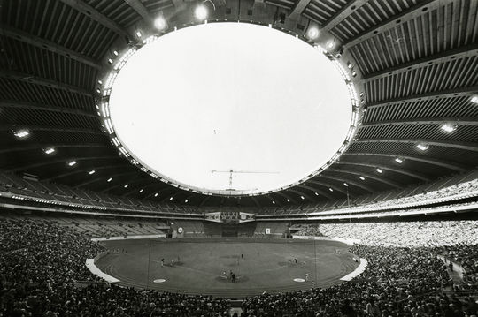 The Montreal Expos moved to Olympic Stadium in 1977 and played there until 2004. (National Baseball Hall of Fame and Museum)