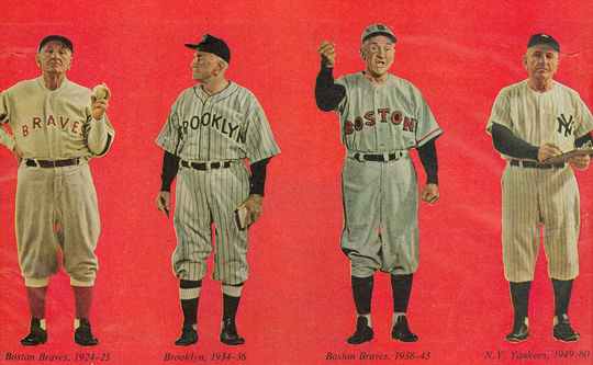 Casey Stengel managed four teams over his 25 years as a skipper: the Boston Braves/Bees, the Brooklyn Dodgers, the New York Yankees and the New York Mets. (National Baseball Hall of Fame and Museum)