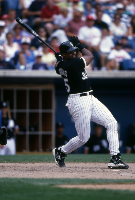 Luke Appling was the only White Sox player to win a batting crown until Frank Thomas (pictured above) captured the American League batting title with a .347 mark in 1997. (Ron Vesely/National Baseball Hall of Fame and Museum)