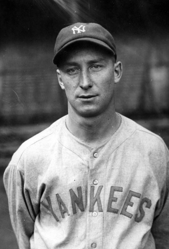 Myles Thomas of the New York Yankees, 1927. BL-4998-68HT (National Baseball Hall of Fame Library)
