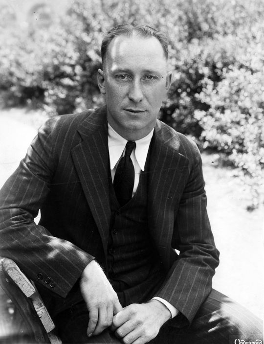 Myles Thomas photographed in a suit during his time with the Washington Senators. B-985-63 (National Baseball Hall of Fame Library)