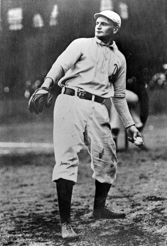 "Walter Howard Kaltreider acquired the nickname ""Rube"" after Hall of Fame hurler Rube Waddell, pictured above. (National Baseball Hall of Fame and Museum)"