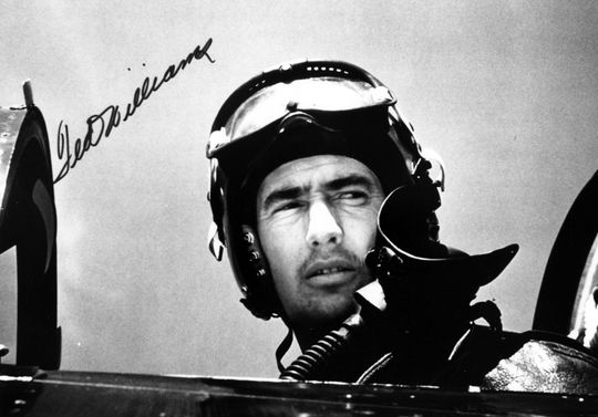 Hall of Famer Ted Williams served as a U.S. Marine fighter pilot during both World War II and the Korean War. BL-1542-97 (National Baseball Hall of Fame Library)