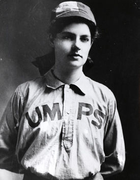Amanda Clement was the first paid woman umpire in semi-professional men's baseball. She had a six-year career spanning across five states and was widely recognized and appreciated for her knowledge of the game. (National Baseball Hall of Fame and Museum)