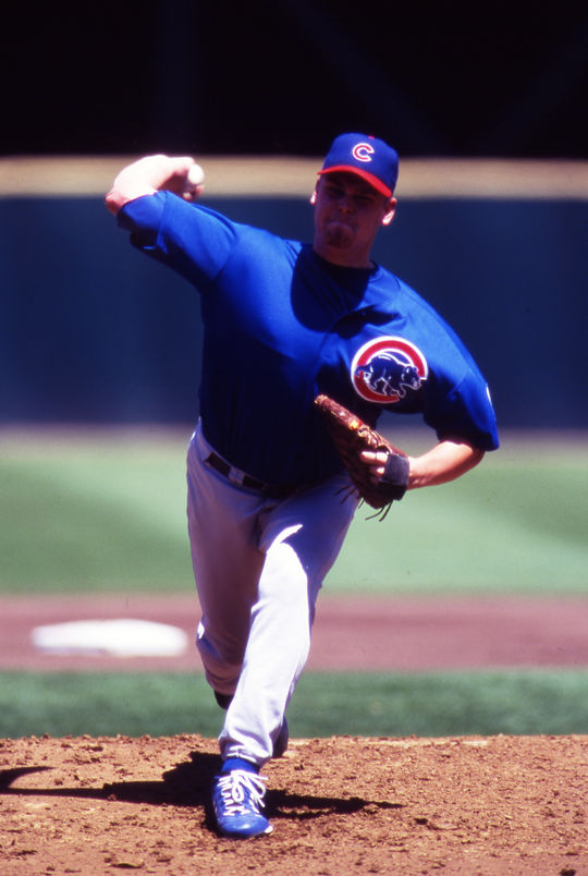 Kerry Wood won the National League Rookie of the Year Award in 1998, leading the league in hits per nine innings and strikeouts per nine innings. (Brad Mangin/National Baseball Hall of Fame and Museum)