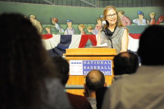Janet Marie Smith at the 2014 Symposium (Milo Stewart Jr./National Baseball Hall of Fame)
