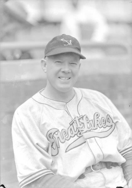 Don Padgett starred for the Great Lakes Bluejackets during World War II. In 1939 with the St. Louis Cardinals, Padgett batted .399 in 92 games. (George Burke/National Baseball Hall of Fame and Museum)