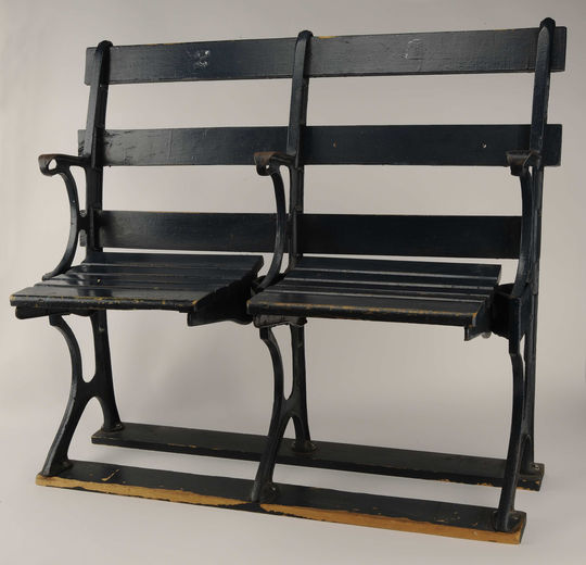 These seats from Ebbets Field will be on display at the Hall of Fame experience at the All-Star FanFest in Washington D.C. (Milo Stewart Jr./National Baseball Hall of Fame and Museum)