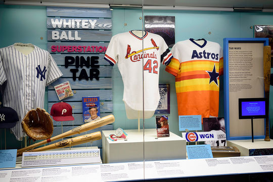 """A Whole New Ballgame"" documents the changes and cultural significance of the game from 1970 on. (Mitch Wojnarowicz/ National Baseball Hall of Fame and Museum)"